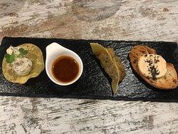 #DegustacióRice El nostre nou menú de degustació comença amb el TRIO D'SNACKS.