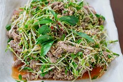 Mixed Sprouts Salad w/ lemongrass beef