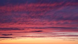 Clouds of magenta as the sun set.