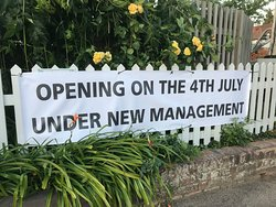 Re-opening 4th July under new management team.