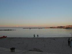 dopo l tramonto in spiaggia