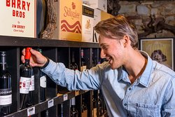 Huge selection of wines to choose from in the cellar