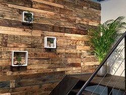 Mur de bois chaleureux