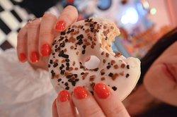un disco di bontà... la più semplice donut sprigiona tutto il senso della dolce America !!!