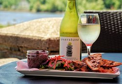 Have one our delicious appetzers on our patio with a crisp white wine!