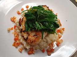 Grilled Rockfish / Lemon Risotto / spinach