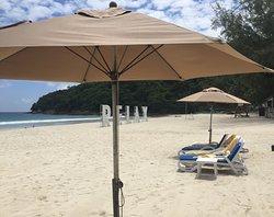 Very quiet private beach