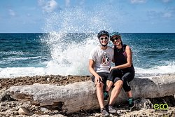 Lovely couple enjoying the Blowholes