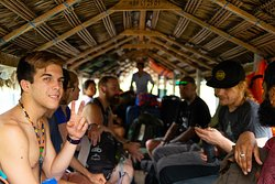 Pilgrimage by boat to our Ayahuasca Center.
