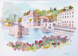Menaggio Watercolours paintings