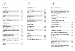 Revised Menu from 08/07/20 until further notice.