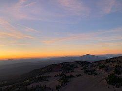 Sunrise at Cloudcap Overlook.