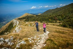 The destination of Postojna offers an array of hiking options, one of them being the majestic mountain Nanos. Photo: Zeleni kras