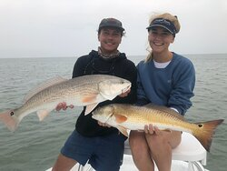 Catching redfish on top waters is really exciting!!