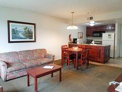 One bedroom Deluxe Suite - Living space