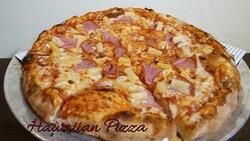 Hawaiian wood fired pizza