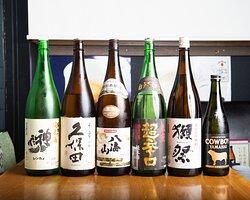 日本酒にもこだわりあり!豊富なラインナップで