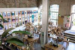 Café Cellulose situated inside Vestfossen Kunstlaboratorium – a centre for contemporary art