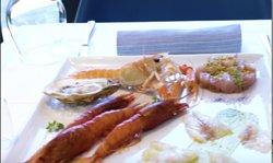 Piatto completo di antipasti con Gambero rosso di Sanremo