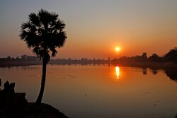 Sunrise at Srah Srang, The King's Pond or The Royal Bath started by Rajendravarman II in the mid 900's