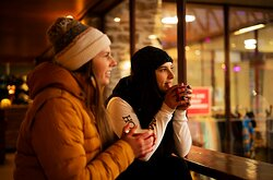 Have you tried our barista made coffees, teas and hot chocolates?  What about a mulled ginger bear?  Warm up with a hot drink while you ice skate at the ice rink.  Located right in the Queenstown Gardens.