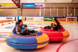 #getbumped   Slide and smash during a super fun drive in our ice bumper cars! This is brand new for 2020.