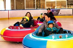 #getbumped  Cool fun for the entire family - ice bumper cars are completely unique! Unlike the more traditional bumper car, the ice bumper car experience is very fluid because the slippery surface allows for the cars to bump and slide.    Single riders must be at least 6 years and 110cms tall.  A child between the ages of 3 and 5 years old can ride on the lap of an adult rider (18+) for $5 per rider. Currently this can only be booked on-site when you arrive and is at the Queenstown Ice Arena tea
