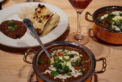 Dal Makhani! Creamy black lentils and known as our most fave comfort food! SUPER GOOD WITH ONION SALAD