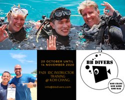 The Padi IDC will prepare you to teach scubadiving around the world. At BB divers we will give you a nice prep if you can come in October before the IDC starts, and from 20 October you will be full time studying, practising, diving to become a great Padi Instructor