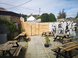 Our new enclosed beer garden.