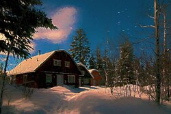 Winters are so peaceful under a blanket of snow, but the cottages are kept cozy with a warm wood fire.  Cottages are open year round.
