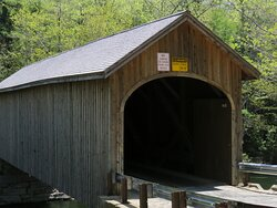 The Babbs Covered Bridge is on Covered Bridge Road in Wyndham, Maine.