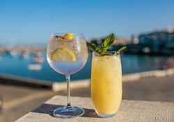 Os nossos cocktails com uma vista de sonho