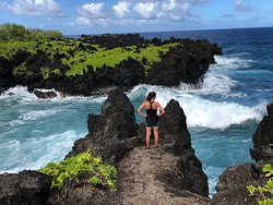 On the short hike passed the blow hole