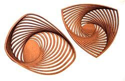 Artistic wooden bowls