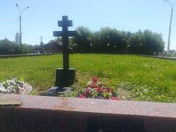 Воинский мемориал на Соборной (Красной) горе, где стоял Серпуховский кремль.