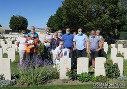 Bezoek aan New British Cemetery te Harelbeke