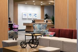 Experience comfort and splashes of color in our lobby.