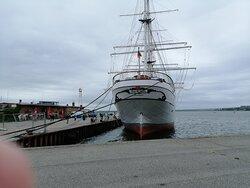Museumsschiff Gorch Fock in Stralsund