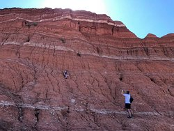 Son loved climbing!