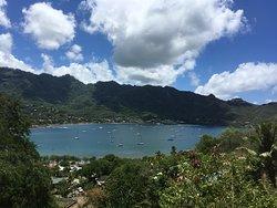Baie Colette Baie Colette et cheminement depuis Taiohae