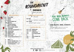Drinks menu The Roundabout (1)