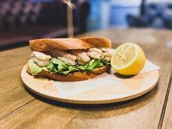Tiger Prawn & Marie Rose Deli Sandwich