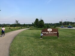 Trail goes through DuPage River Park