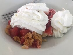 We asked what dessert is most popular and our the sweet young Amish woman who served us suggested the Strawberry Pie.  It was amazingly delicious!  Best Strawberry Pie I have every had.  My husband and I fork fought over this dessert ; )