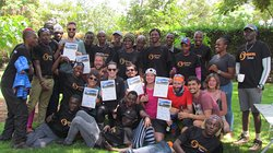 the celebration with our clients after killing the Kilimanjaro Mountain