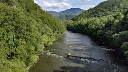 Pigeon River view in the Great Smoky Mountains | Hartford, TN