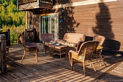The sun deck is perfect for lounging and enjoying the beautiful views surrounding the Inn.