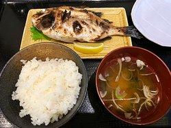 花ダイ塩焼&ごはんセット(小鉢なし)