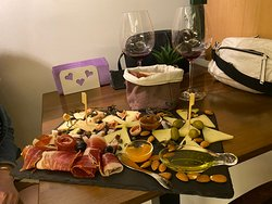 Absolutely amazing wine and platter